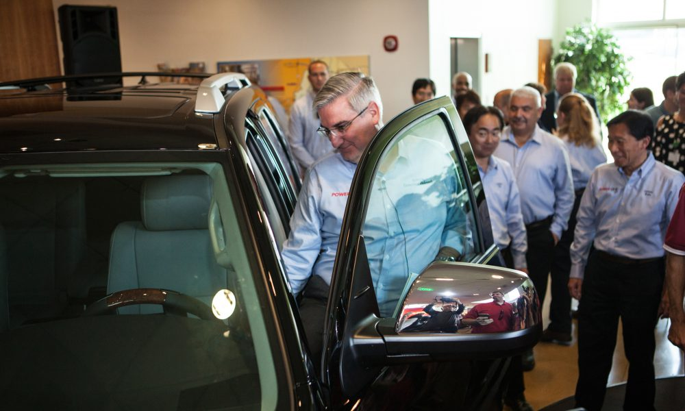 2017 TMMI 5 Millionth Vehicle Governor Holcomb