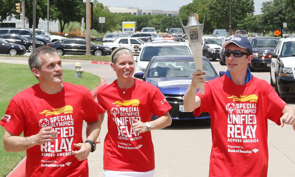 Special Olympics Flame of Hope Arrives at Toyota Headquarters in Plano 002