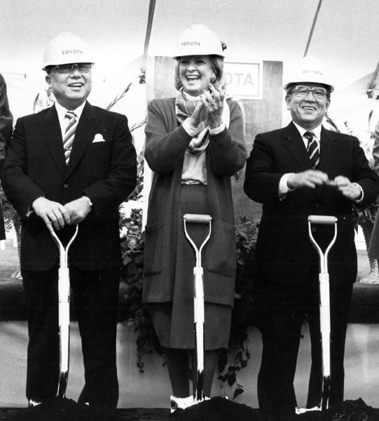 Toyota Announces Date for Kentucky Plant Groundbreaking Ceremony [1986]