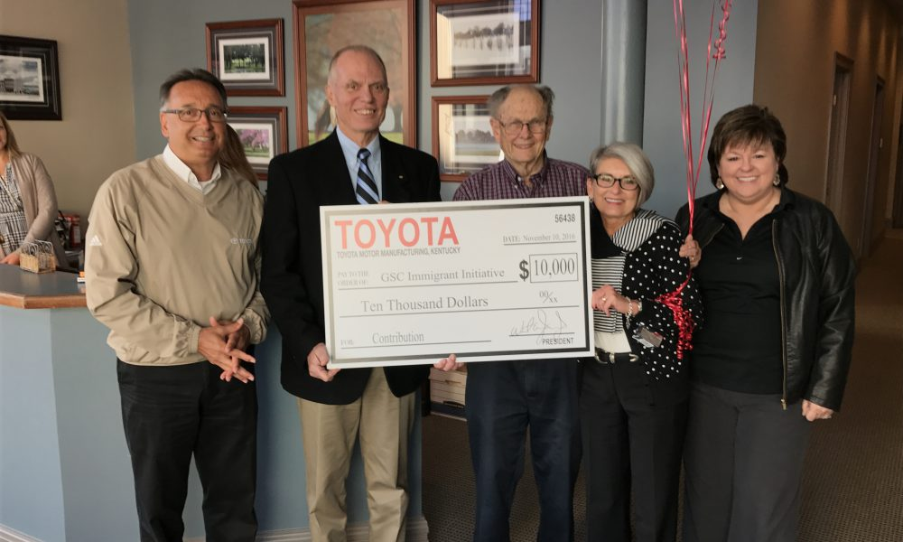 Continuing Its 30th Anniversary Celebration, Toyota Surprises Three Georgetown Non-Profits with $10,000 Grants