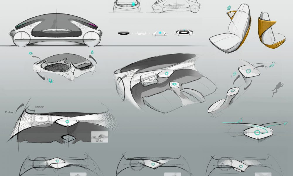 Toyota Concept-i Early Interior Sketch 03