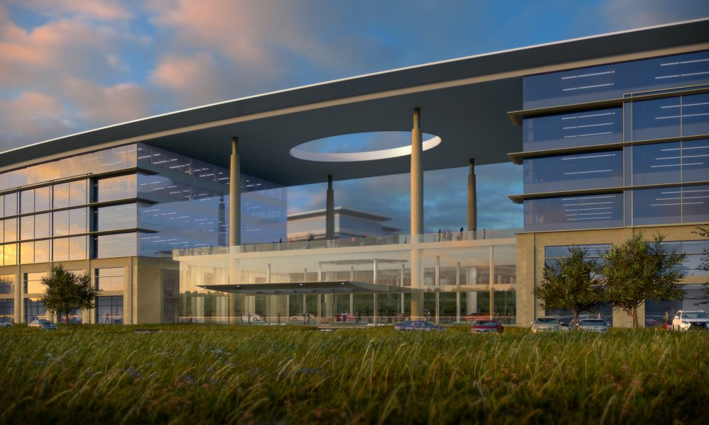 2016 Toyota Plano HQ Campus – Front Entrance Rendering