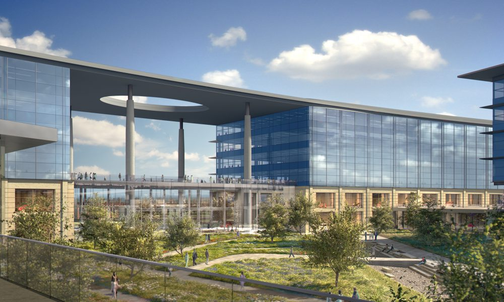2016 Toyota Plano HQ Campus – Courtyard Rendering