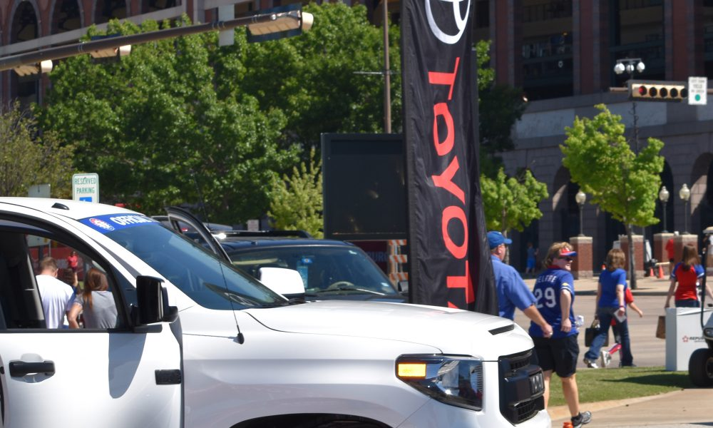 Toyota Becomes the Official Truck Sponsor of the Texas Rangers 001