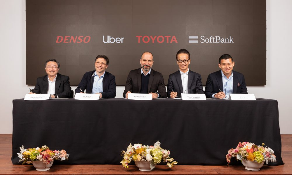 Uber, Denso, Toyota, SoftBank Signing April 18, 2019