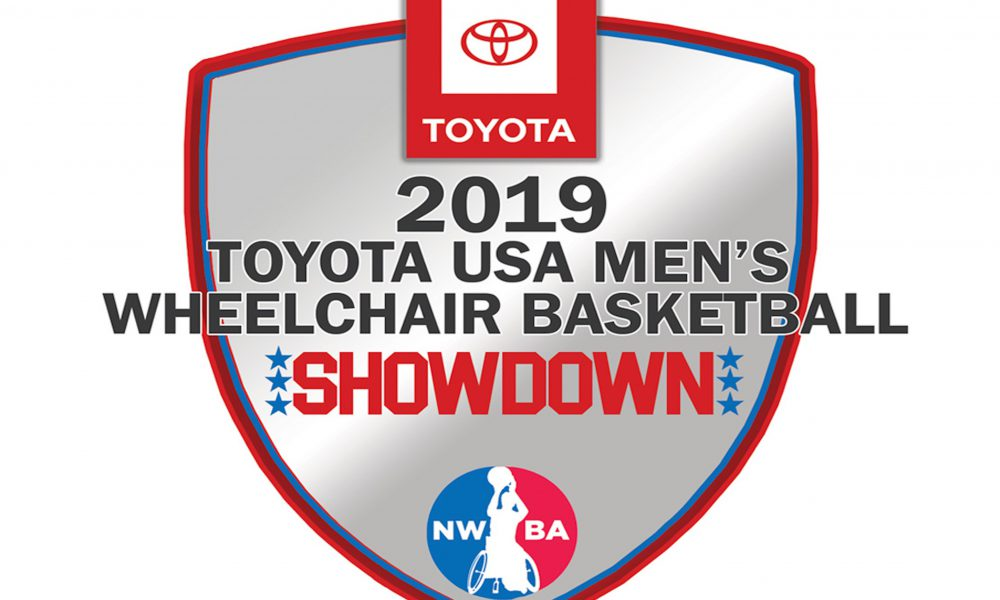 2019 Toyota USA Men's Wheelchair Basketball Showdown Logo