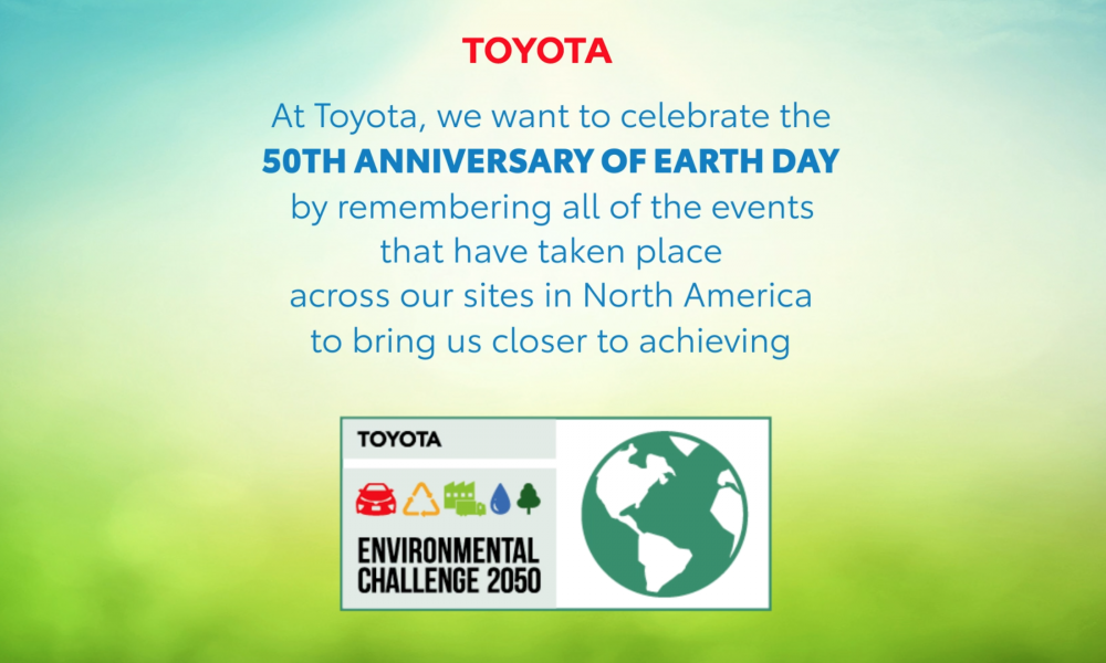 Toyota Earth Day Anniversary