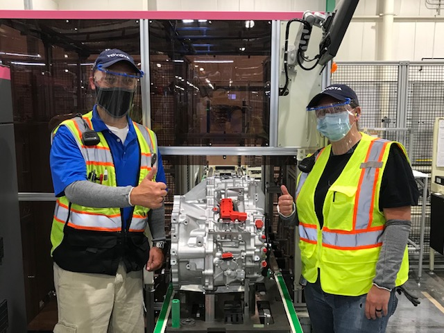 Toyota West Virginia Rolls Its First Hybrid Transaxle Off Production Line Represents $226 Million Investment in the Plant