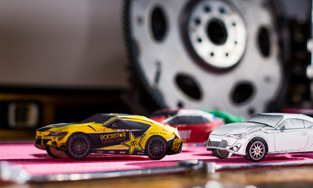 Toyota Racing DRIFTs into View with Papercraft Race Cars