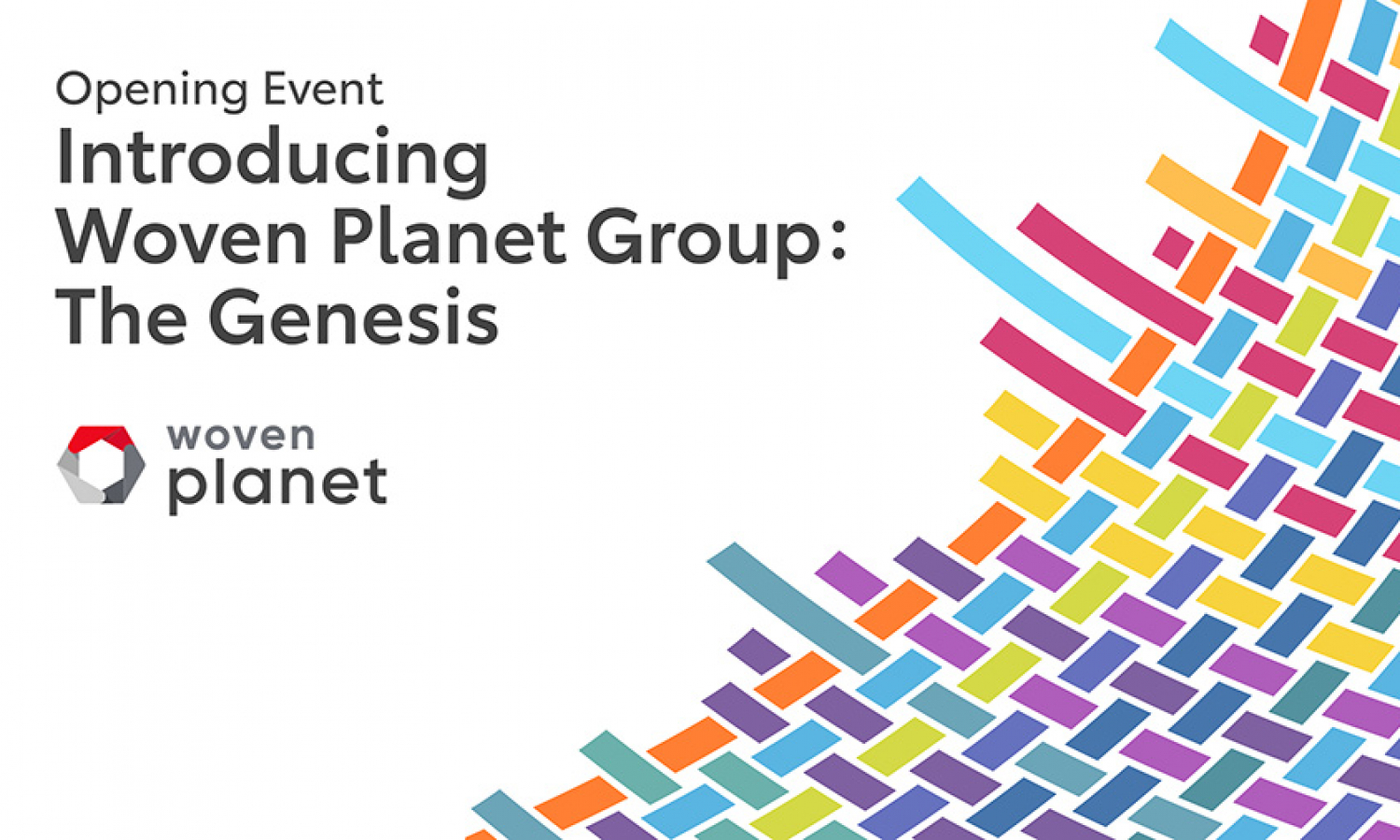 "Woven Planet Group To Host Virtual Opening Event ""The Genesis"""