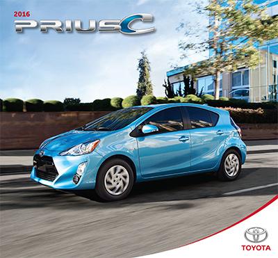 Prius c 2016 brochure