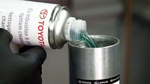 Nettoyant pour chambres de combustion et système d'injection Toyota