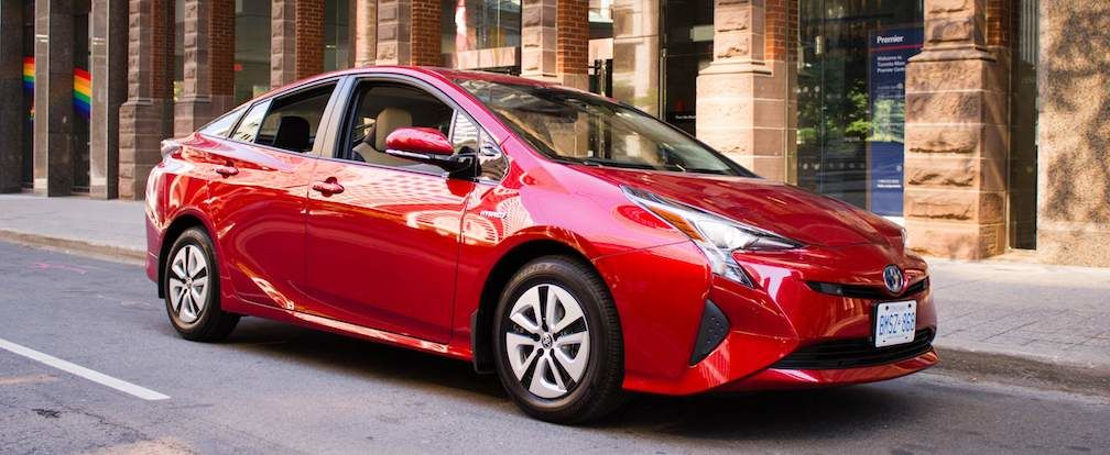 Canadian Green Car of the Year Toyota Prius Shown in Red 2