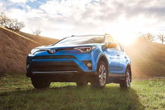 Fuel Efficient RAV4 Hybrid Limited shown in Electric Storm Blue 572