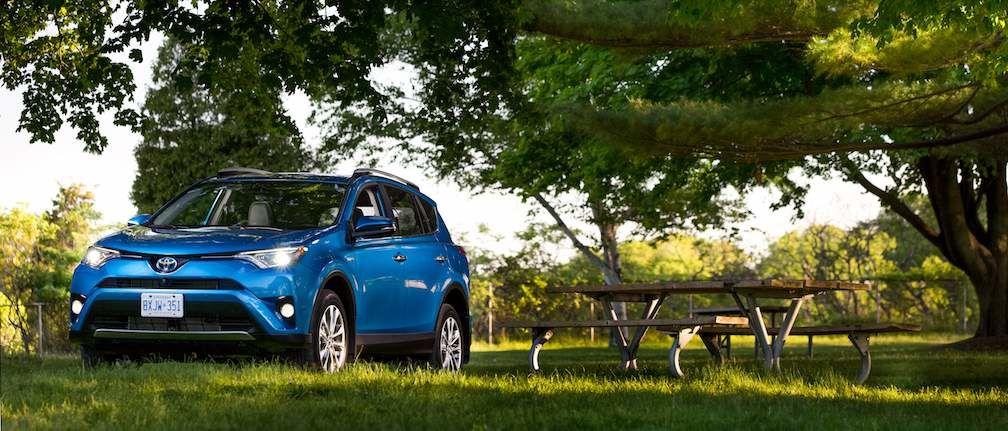 RAV4 Hybrid in Blue