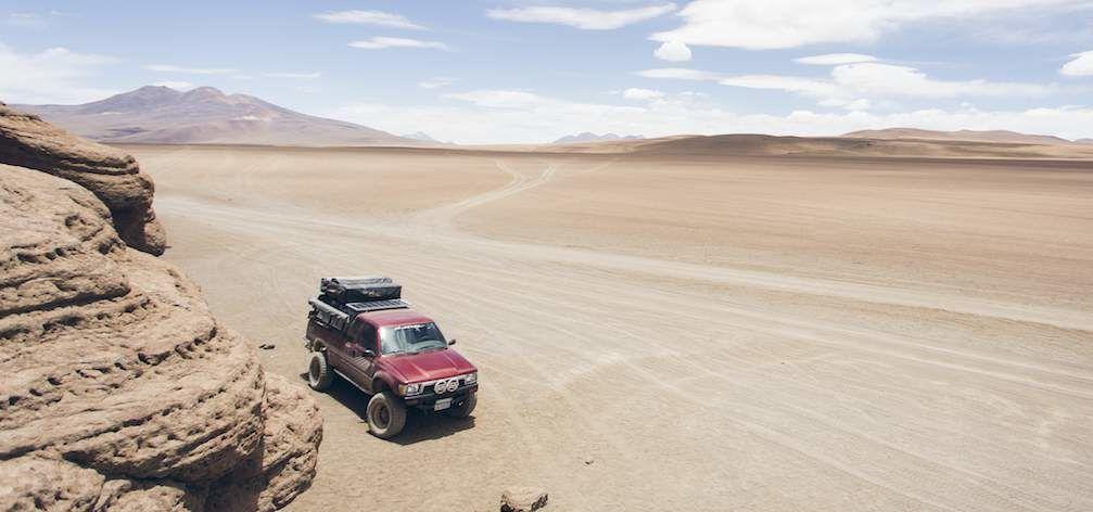 Desk to Glory Toyota Truck Driving in Desert