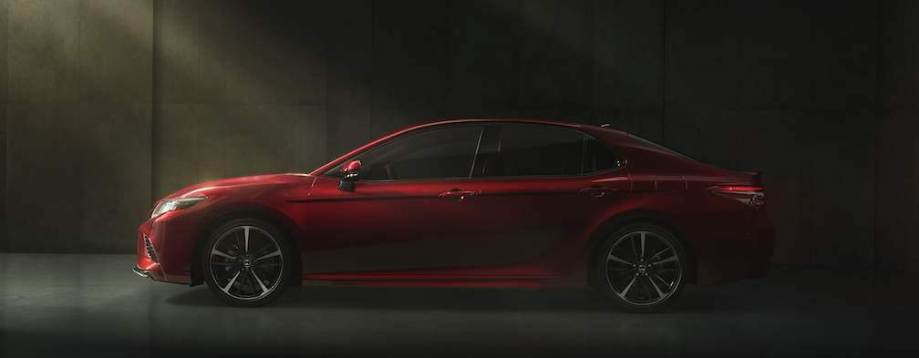 2018 Camry Prototype shown in Red