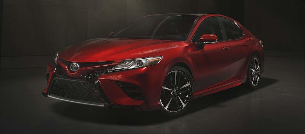 2018 Toyota Camry Shown In Red