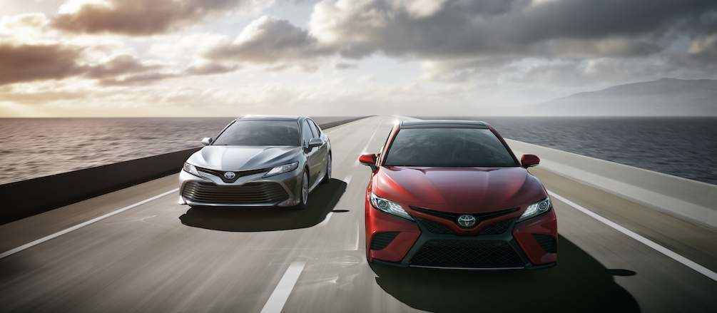 2018 Toyota Camry in Red and Grey