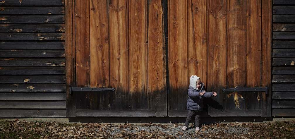 RAV4 World of Weekends Luka in Front of Barn Door