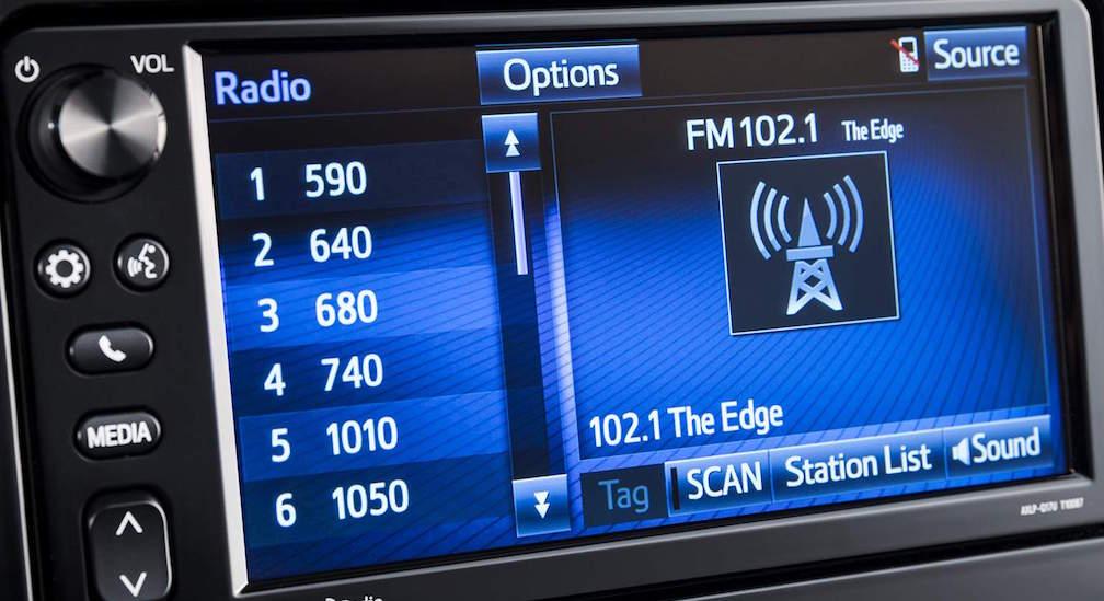 Toyota 2017 Corolla iM Interior Touchscreen