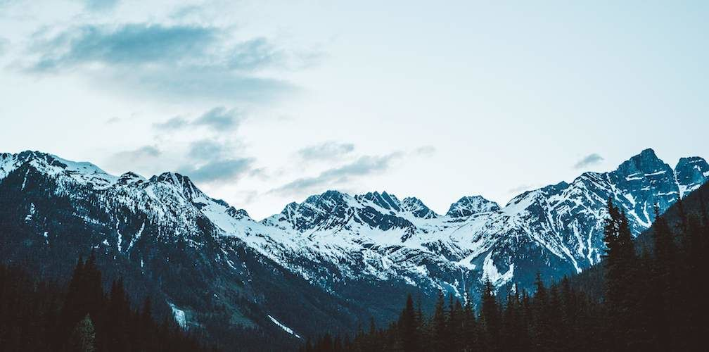 Mountains in British Columbia during Great Canadian Road Trip
