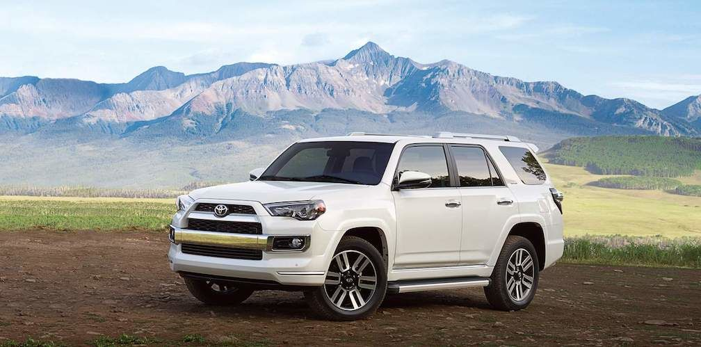 toyota 4runner 7 seater suv in blizzard pearl
