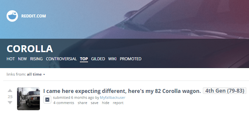 Corolla Subreddit Screengrab copy 2