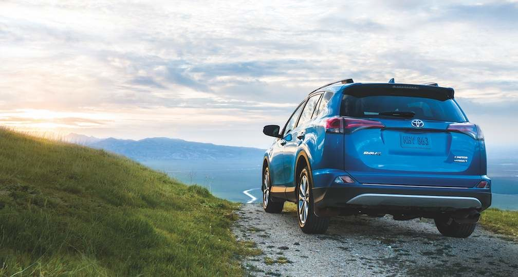 RAV4 Hybrid Limited shown in Electric Storm Blue