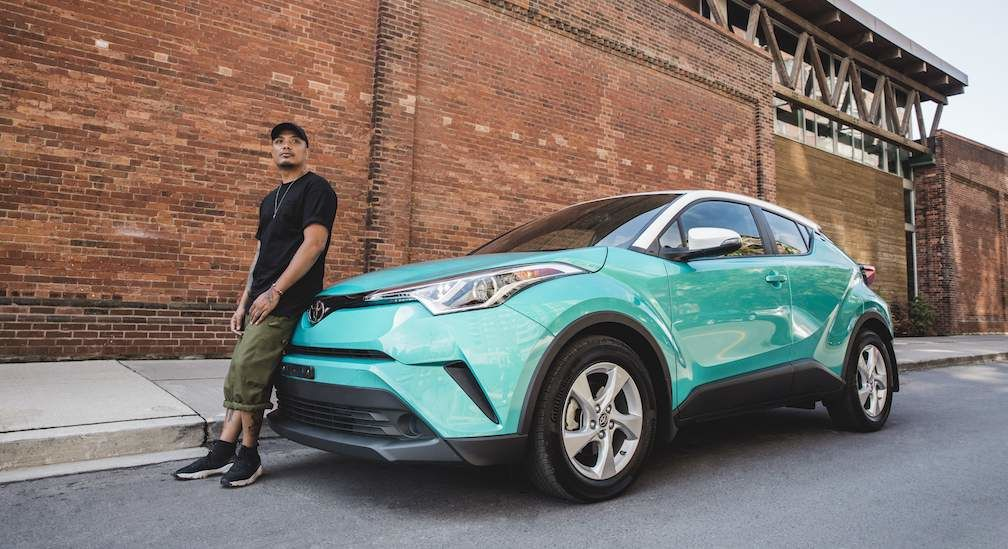 Brian Espiritu In Front of Toyota C-HR