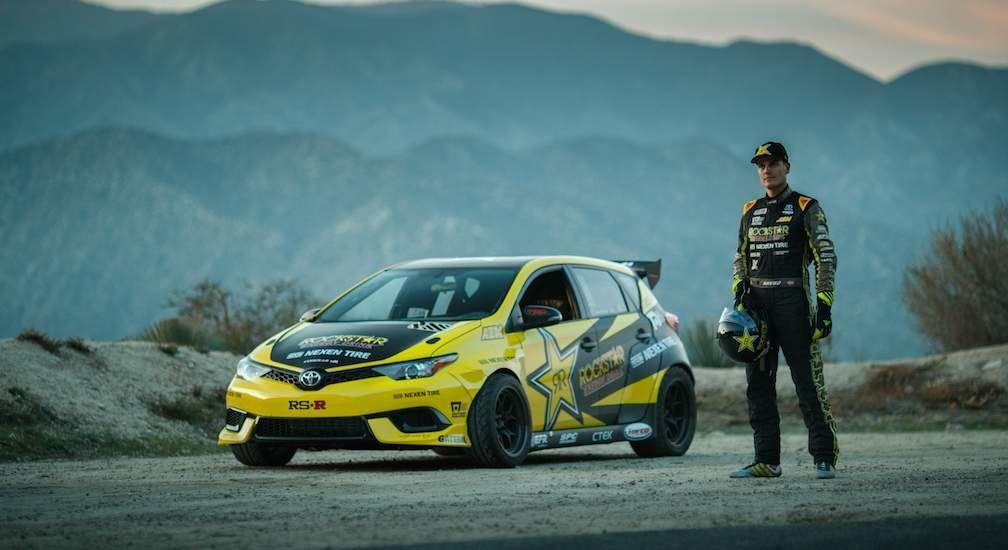 Fredric Aasbo With HIs Toyota Racing Team Vehicle Corolla IM