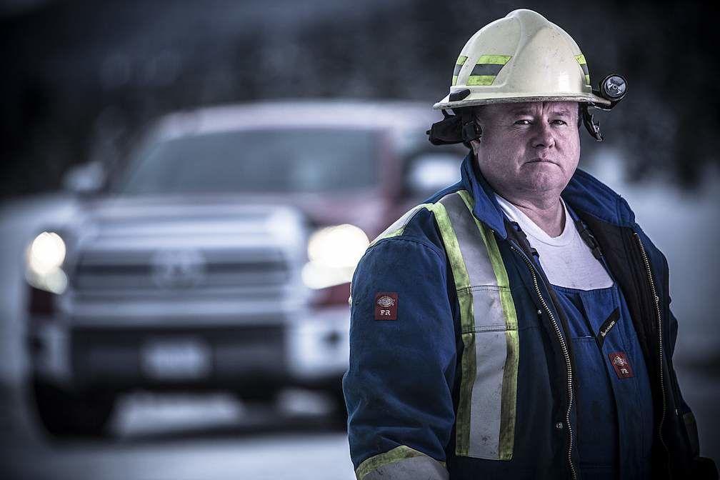 HIghway Thru Hell Jamie Davis in Front of Toyota Tundra