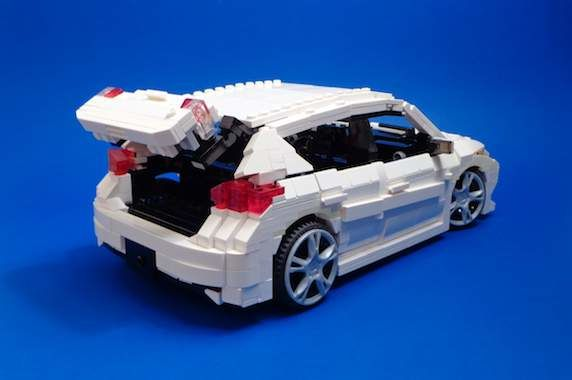 What's under the hood of this Lego Corolla iM Hatchback?