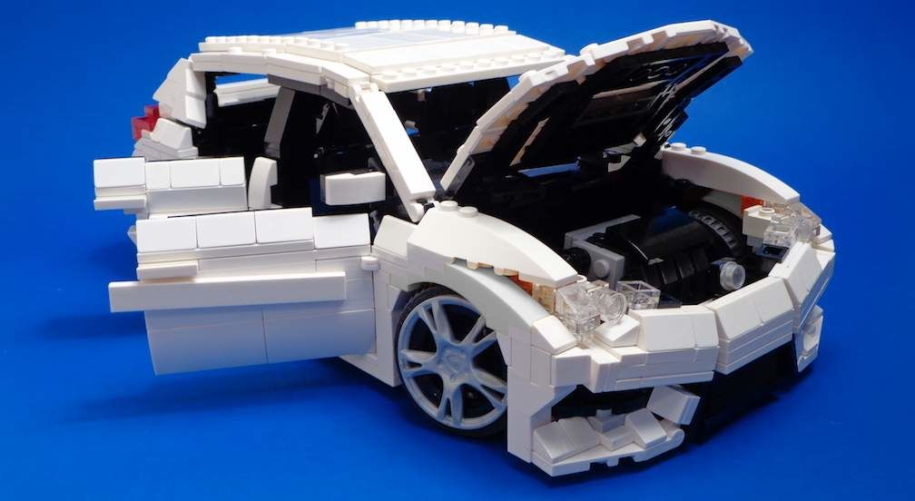 Lego Toyota Corolla iM with Hood Up