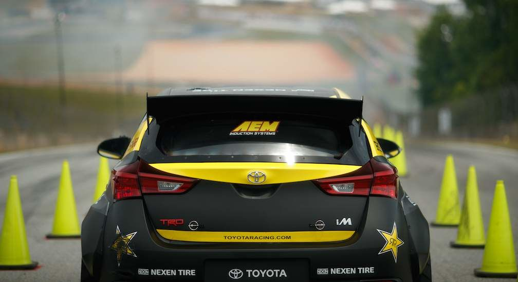 Toyota Racing Corolla iM From Rear