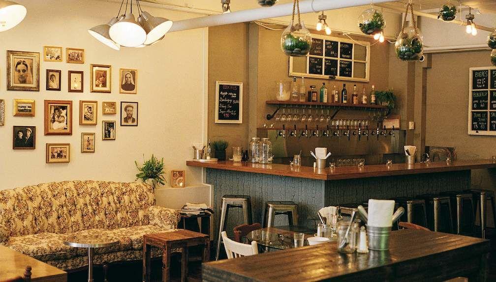 Interior of Birona Hummus Bar