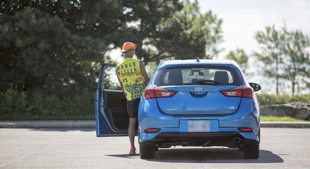 Mango Peeler and Corolla iM Hatchback in Blue