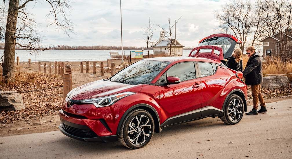 Toyota C-HR in Ruby Flare Pearl