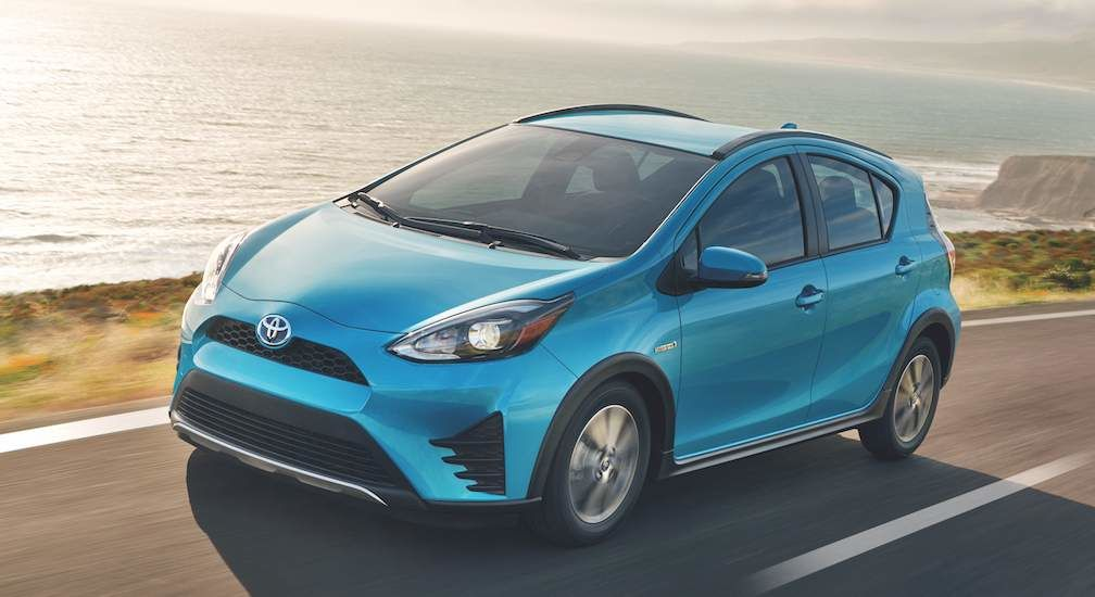 Toyota Prius c Hybrid in Emerald Pearl