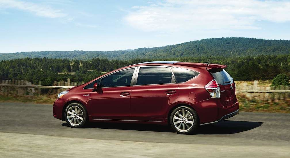 Toyota Prius v In Salsa Red Pearl