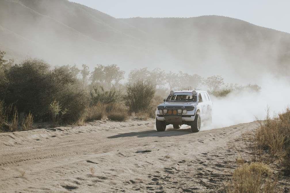 Baja 1000 Truck Racing Through Desert