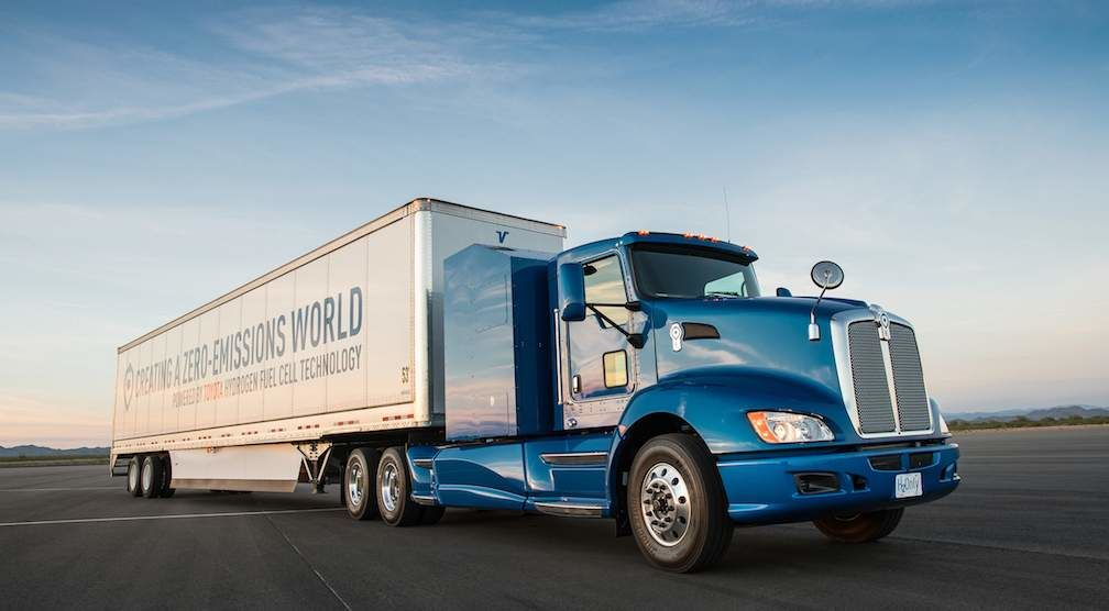 Hydrogen Fuel Cell Powered Truck