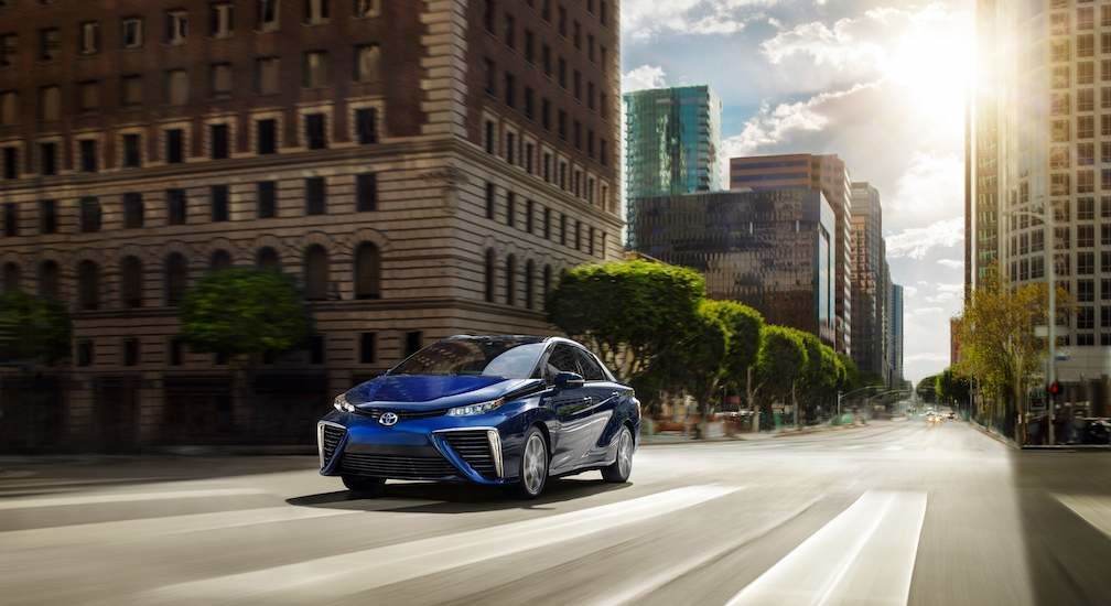 Hydrogen Fuel Cell Car Toyota Mirai