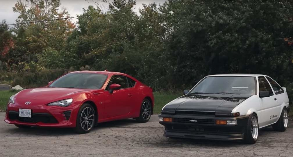 Toyota 86 Next to Restored AE86