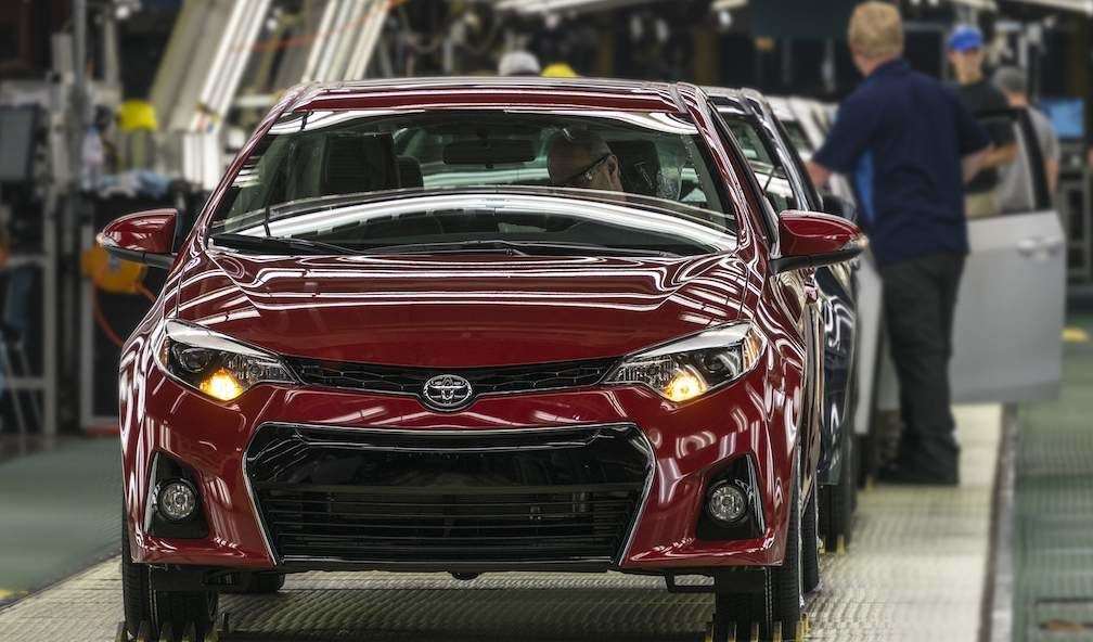 Toyota Corolla on Production Line