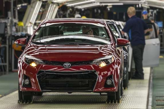 Toyota Corolla on Production Line Ontario