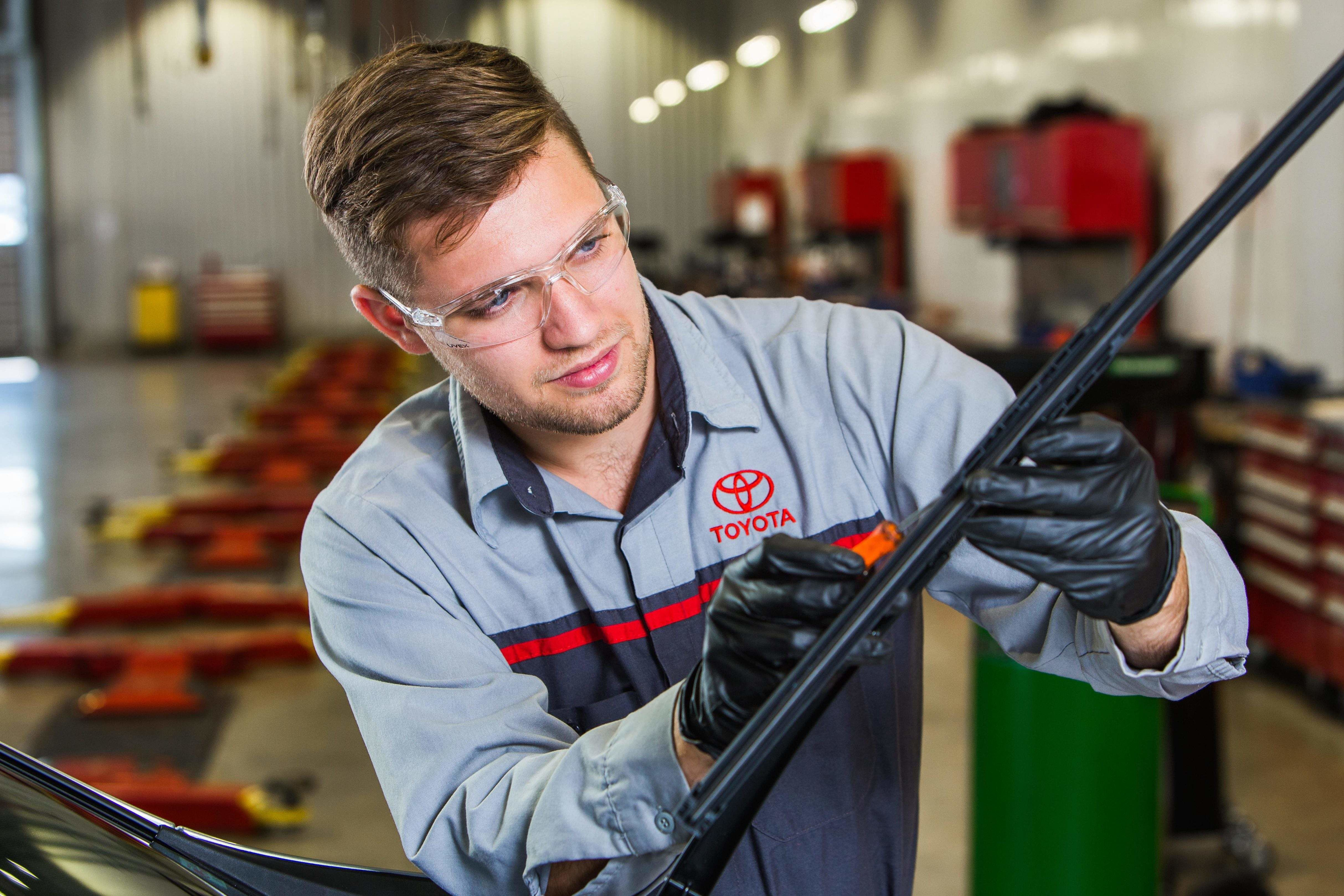 Windshield wiper replacement by Toyota Service