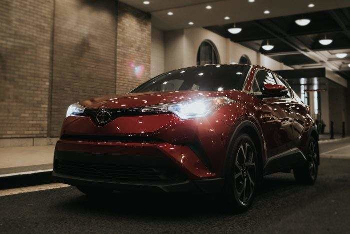C-HR driving at night time.