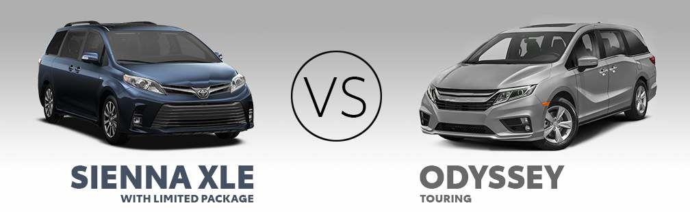 2019 Toyota Sienna vs. 2019 Odyssey