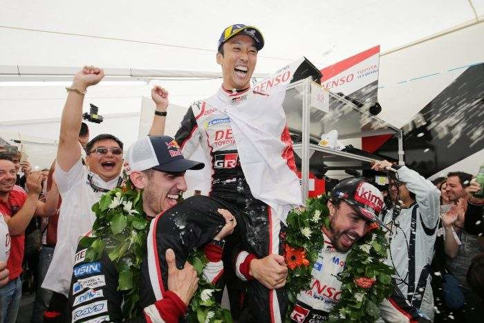 Winners at Toyota Gazoo Racing